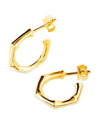Dinny Hall - Metallic Gold-plated Bamboo Mini Hoop Earrings - Lyst