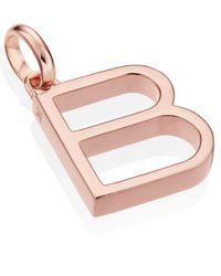 Monica Vinader Pink Rose Gold-plated Alphabet Pendant B