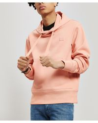 Acne Pink Ferris Face Hoodie for men