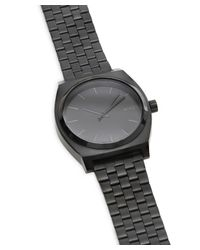 Nixon Black 'the Time Teller' Stainless Steel Bracelet Watch for men