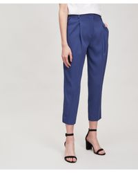 Piazza Sempione Blue Amelie Tapered Trousers