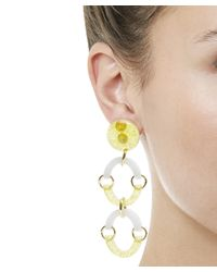 Lele Sadoughi - Yellow Rainbow Arch Earrings - Lyst