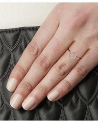 Monica Vinader - Metallic Gold-plated Riva Mini Kite Diamond Stacking Ring - Lyst