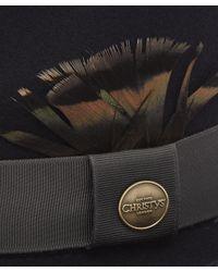 Christys' Multicolor Wychwood Wool Felt Feather Trilby Hat