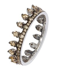 Annoushka Metallic Brown Diamond White Gold Crown Ring