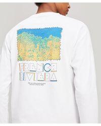 Reception White L'esterel Long Sleeve Cotton T-shirt for men