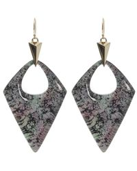 Alexis Bittar | Multicolor Abalone Patterned Lucite Drop Earrings | Lyst