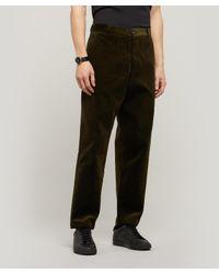 Oliver Spencer Black Judo Cord Trousers for men