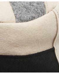 Albertus Swanepoel - Gray Mies Wool Felt Patchwork Wide Brim Hat - Lyst
