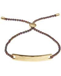 Monica Vinader - Gold-plated Havana Metallica Cord Friendship Bracelet - Lyst