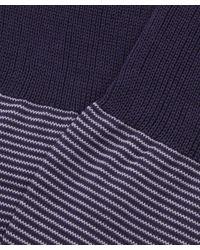 Pantherella - Blue Seymour Micro Stripe Cotton Socks for Men - Lyst