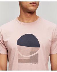 NN07 Pink Printed T-shirt for men