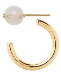 Maria Black - Metallic Gold-plated Elly Rainbow Moonstone Earring - Lyst