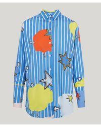 MIRA MIKATI - Blue Monster Cotton Shirt - Lyst
