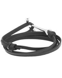 Miansai - Metallic Anchor Leather Bracelet for Men - Lyst