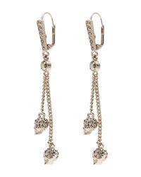 Alexander McQueen - Metallic Thin Chain Skull Drop Earrings - Lyst
