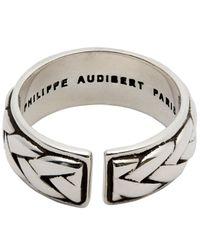 Philippe Audibert - Metallic Fillan Lattice Adjustable Ring - Lyst