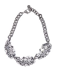 Lulu Frost - Metallic Diamanda Leaf Collar Necklace - Lyst