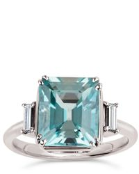 Dinny Hall - White Gold Mae West Aquamarine Ring - Lyst