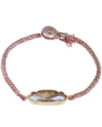Brooke Gregson Metallic Gold Icicle Labradorite Silk Bracelet