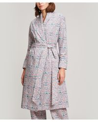 Liberty Multicolor Imran Long Cotton Robe