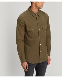PS by Paul Smith - Natural Crinkle Cotton Shirt for Men - Lyst