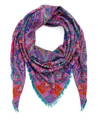Liberty Green Lasenby 140 X 140 Cashmere And Silk-blend Paisley Scarf