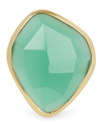 Monica Vinader - Metallic Gold-plated Green Onyx Siren Nugget Cocktail Ring - Lyst