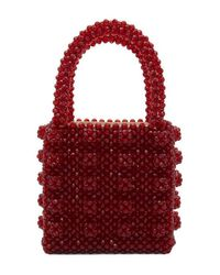 Shrimps Red Anthonia Beaded Bag