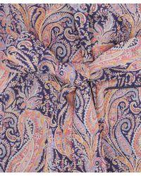 Liberty Blue Felix And Isabelle Short Tana Lawn Cotton Robe