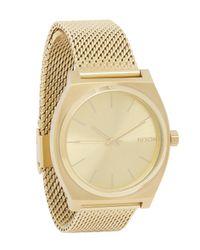 Nixon - Metallic Time Teller Milanese Gold-tone Watch - Lyst