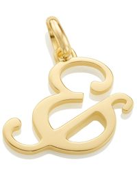 Monica Vinader | Metallic Gold-plated Alphabet Pendant & | Lyst
