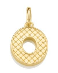 Monica Vinader - Metallic Gold-plated Alphabet Pendant O - Lyst