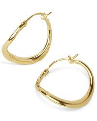 Dinny Hall | Metallic Small Wave Hoop Earrings | Lyst