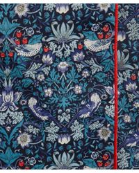 Liberty Blue Strawberry Thief Long Cotton Robe