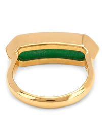 Monica Vinader - Metallic Vermeil Green Onyx Baja Ring - Lyst