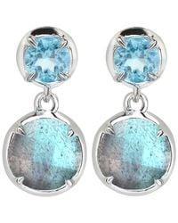 Dinny Hall - Blue Silver Labradorite Sheba Double Drop Earrings - Lyst