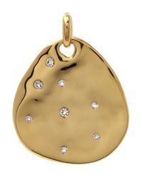 Monica Vinader | Metallic Gold-plated White Topaz Siren Scatter Teardrop Pendant | Lyst
