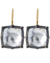 Larkspur & Hawk | White Bella Quartz Drop Earrings | Lyst