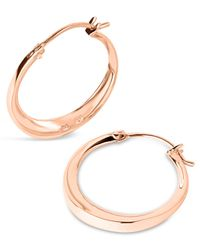 Dinny Hall | Metallic Small Rose Gold-plated Signature Hoop Earrings | Lyst