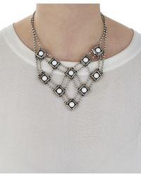 DANNIJO - Metallic Silver-plated Santorini Web Necklace - Lyst