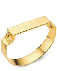 Monica Vinader | Metallic Signature Gold-plated Wide Bangle | Lyst