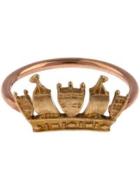 Annina Vogel | Metallic Rose Gold Crown Ring | Lyst