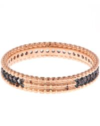 Kismet by Milka | Multicolor Rose Gold Blue Sapphire Eternity Band | Lyst