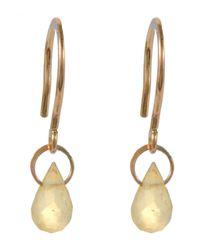 Melissa Joy Manning | Metallic Mini Gold Citrine Drop Earring | Lyst