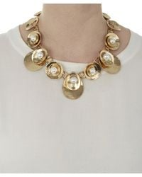 Oscar de la Renta | Blue Pearl Disc Necklace | Lyst