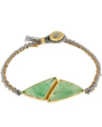 Brooke Gregson - Red Gold Double Chrysoprase Silk Bracelet - Lyst