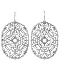 Laurent Gandini - Metallic Silver Tombolo Earrings - Lyst