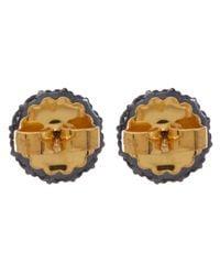 Larkspur & Hawk - Gold Small Olivia Pink White Topaz Post Earrings - Lyst