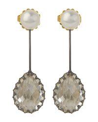 Larkspur & Hawk | White Antoinette Suspended Pear Earrings | Lyst